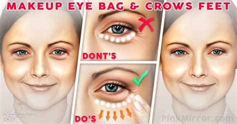would bangs hide my crows feet how to minimise the appearance of under eye bags