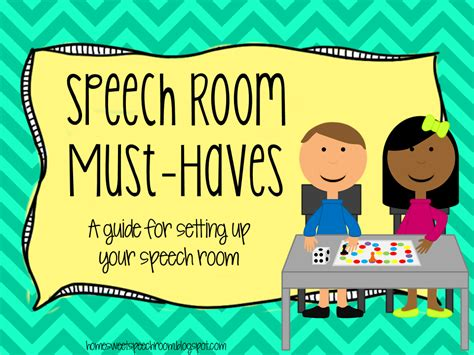 room must haves speech room must haves a guide for setting up your speech room books and cant