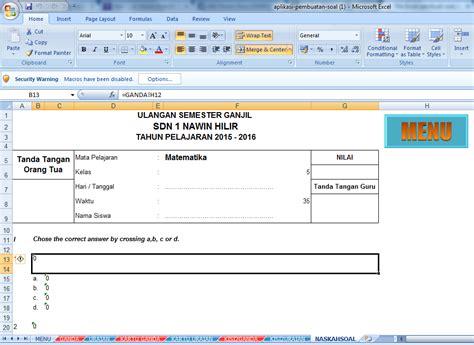Essay Structure Exle by Ini Dia Aplikasi Pembuat Soal Pilihan Ganda Dan Essay Format Excel Terbaru Belajar Membaca