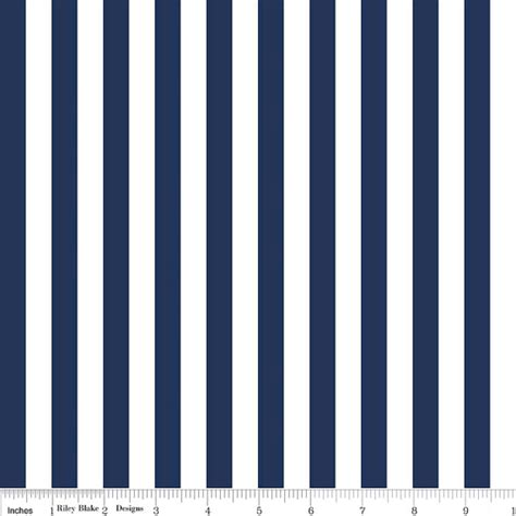 Navy And White Striped Quilt by Navy And White Striped Fabric From Designs Half