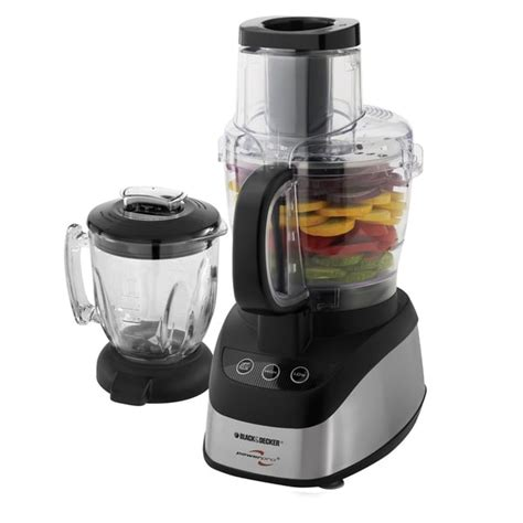 Blender Black And Decker black decker fp2620s wide combo food processor and