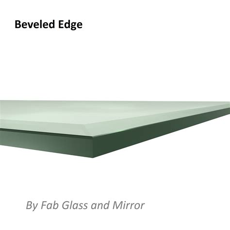 beveled glass table top fab glass and mirror rectangle tempered clear glass table