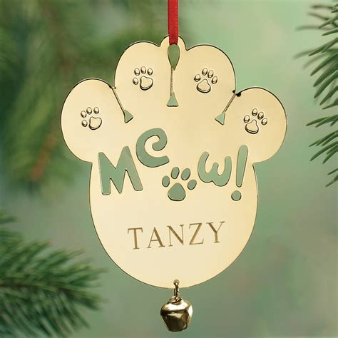 personalized brass ornaments personalized meow brass ornament ornament