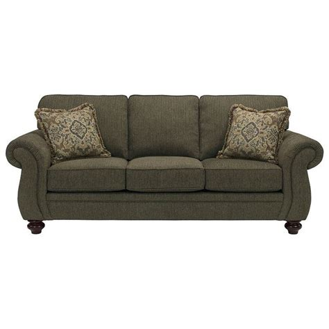 bun feet for sofa broyhill furniture cassandra 3688 3 traditional stationary