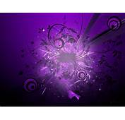 Purple Wallpaper With Silver Flower For Living Room