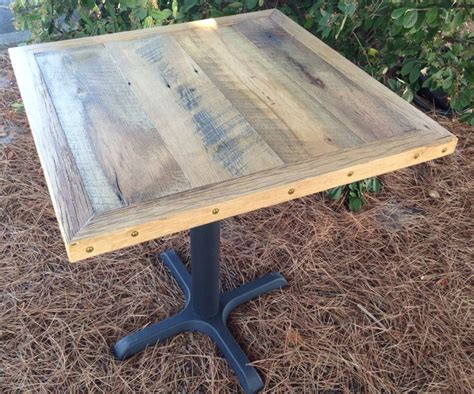 reclaimed table tops reclaimed wood restaurant table top wire brushed oak