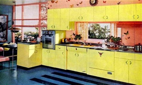 1955 st charles steel kitchen aqua here s my newest pink yellow kitchens of the fifties click americana