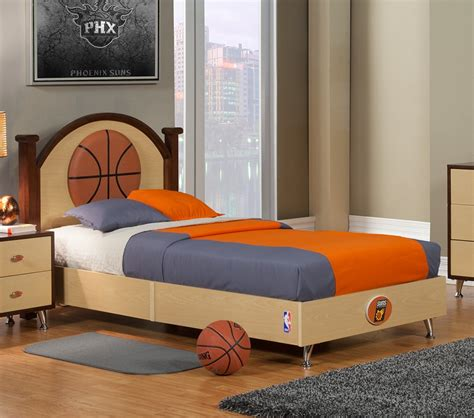 basketball bed set dreamfurniture com nba basketball phoenix suns twin bed