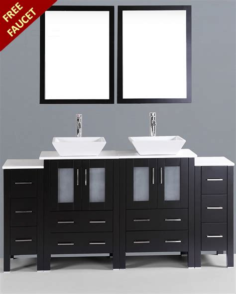 square bathroom vanity 72in double square vessel vanity by bosconi boab224s2s