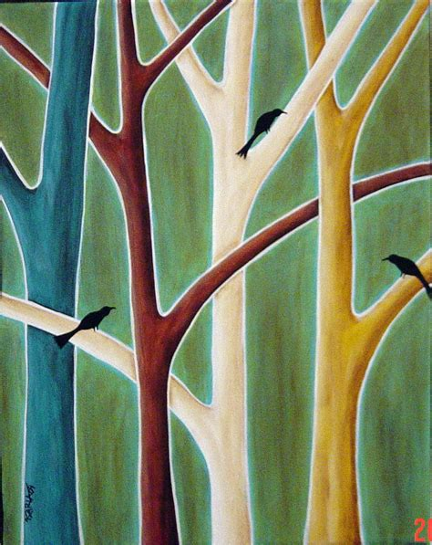 folk acrylic paint on canvas abstract paintings trees canvas abstract folk