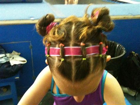 gymnastics hairstyles for fine hair 79 best images about gymnastics meet hairstyles on