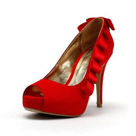 brautschuhe rot rote hochzeits schuhe ribbon brautschuhe braut