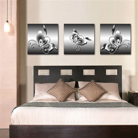 Living Room Wall Decor Sets Wall Designs Panel Wall Real Canvas Painting Cuadros Painting Animal Butterfly 3