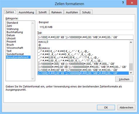 format file size excel zellenformat dateigr 246 223 e deutsch kb mb gb martin