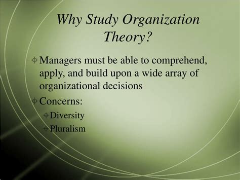Why Am I So Modern Theories by Ppt A Review Of Hatch S Organization Theory Modern