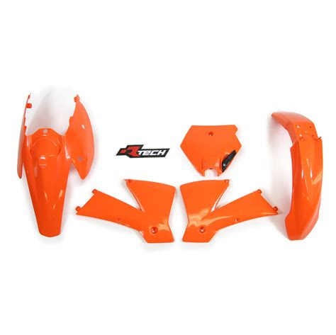Ktm Plastics Kits Ktm200 Exc 2004 Racetech Orange Plastics Kit Ktm 200