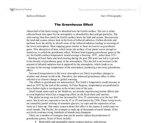 Greenhouse Effect Essay In by Essay On Greenhouse Effect Greenhouse Effect Essay Global Warming Conclusion Essay Essay On