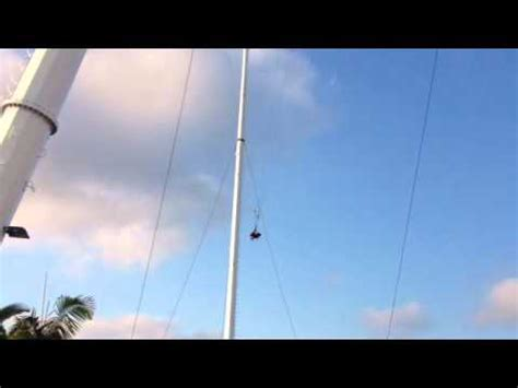 wet and wild swing crazy 53m cable swing at wet wild theme park youtube