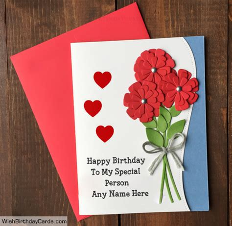 handmade birthday card for special person