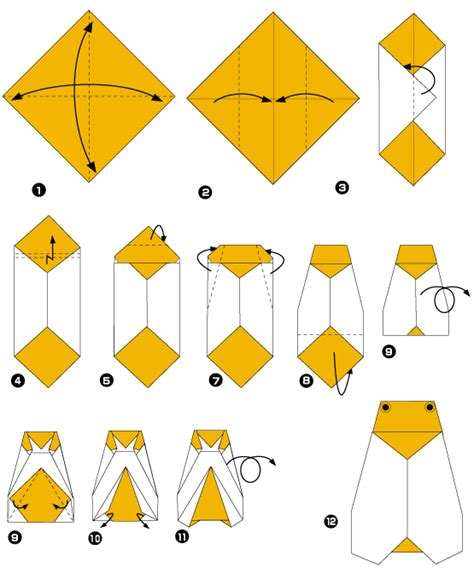 Insect Origami - origami longhorn beetle diagram origami rabbit diagram