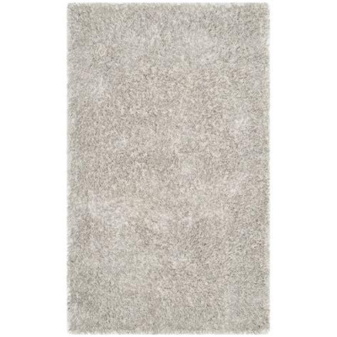 shag rugs toronto safavieh toronto shag 4 x 6 handmade polyester rug in light gray sgt711a 4