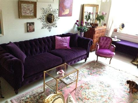 deep purple couch chesterfield in como quot deep purple quot velvet sofa stalking