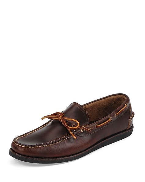 eastland shoes eastland yarmouth leather boat shoe in brown for lyst