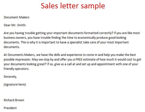 Sle Letter For Product Endorsement Sales Letter Sle