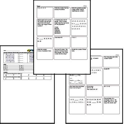 Free Fourth Grade Pdf Math Worksheets Edhelper Com
