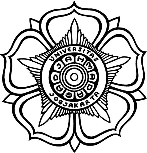 gambar bunga hitam putih clipart