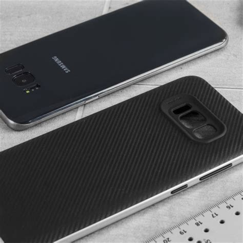 Carbon For Samsung Galaxy S8 olixar x duo samsung galaxy s8 plus carbon fibre silver reviews comments
