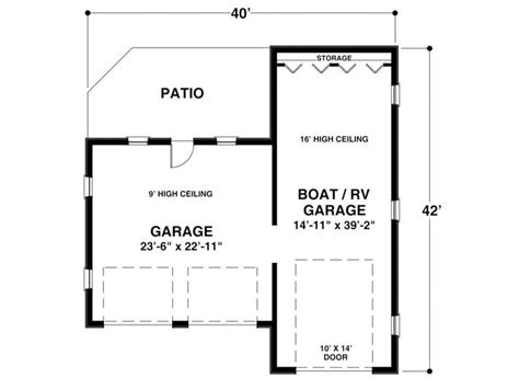 rv storage plans boat storage garage plan boat storage or rv garage