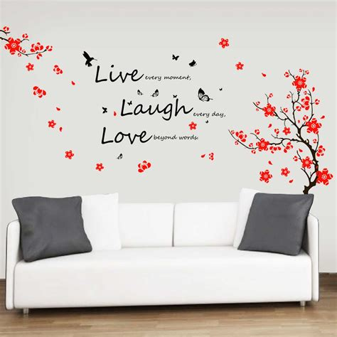 home decor wall stickers dimensional wall stickers tree bird sticker sofa wall