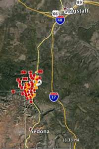 where are the fires in arizona map