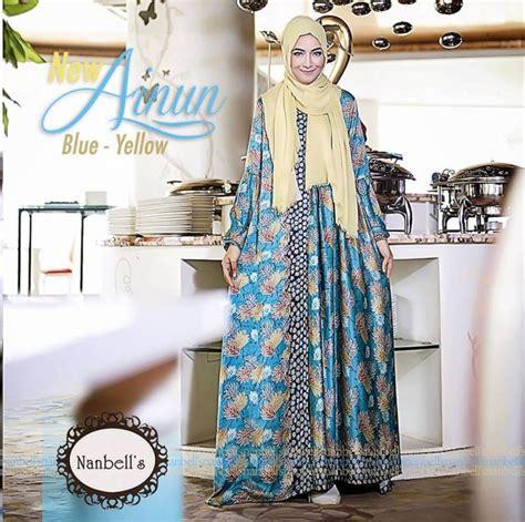 Model Gamis Batik Pesta gamis batik kombinasi kain polos model terbaru 2017