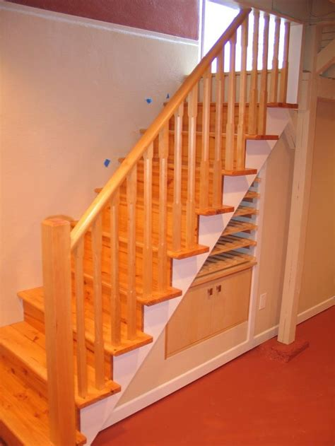 basement railing ideas storage stairs with railing basement ideas