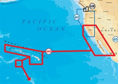 map of hawaiian islands and california navionics 644p platinum plus california south baja