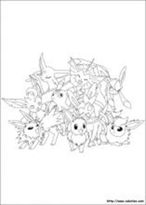 Coloriage Pokemon Famille Evoli - Coloriages gratuits