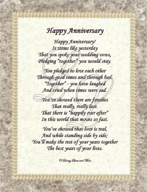 wedding anniversary poems for my anniversary poem