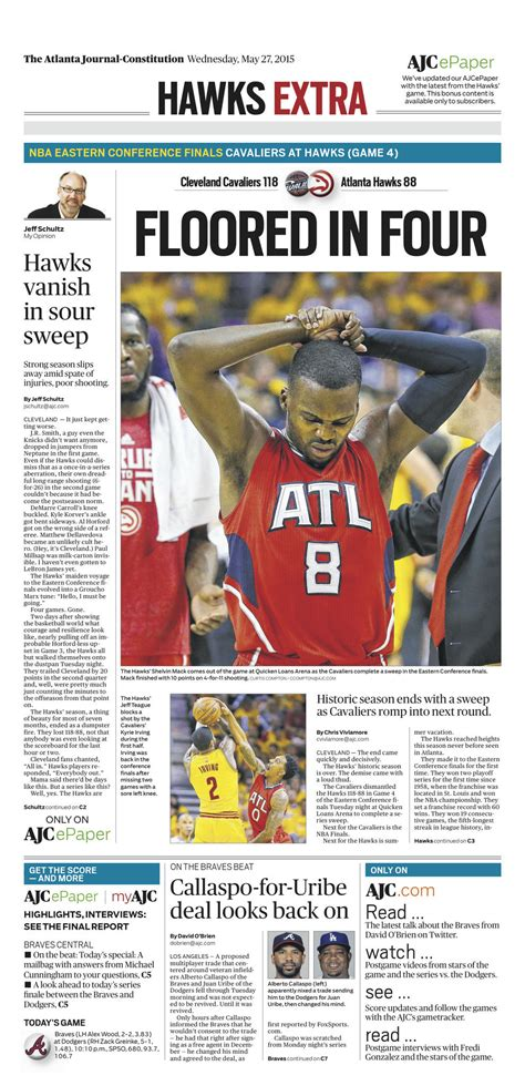 the plain dealer sports section see newspaper pages on cleveland cavaliers winning nba