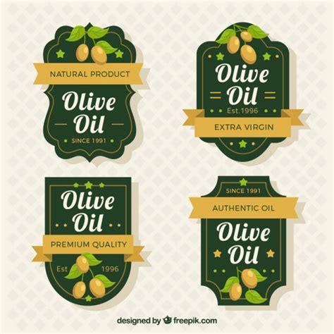 Elegant Olive Oil Labels Vector Free Download Olive Labels Templates