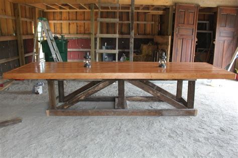 furniture long  large easy diy trestle farmhouse