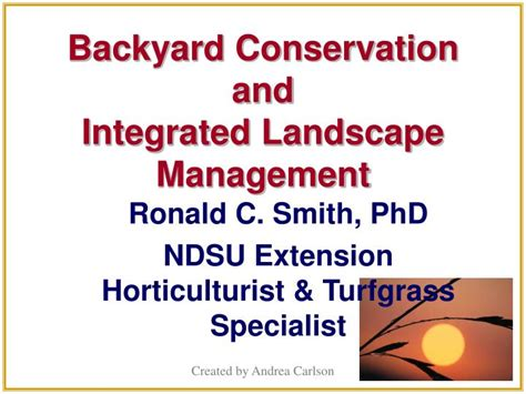 backyard conservation ppt backyard conservation and integrated landscape management powerpoint
