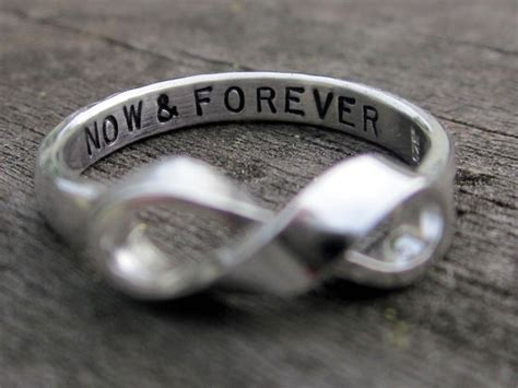 infinity is made by handmade infinity ring with custom message by