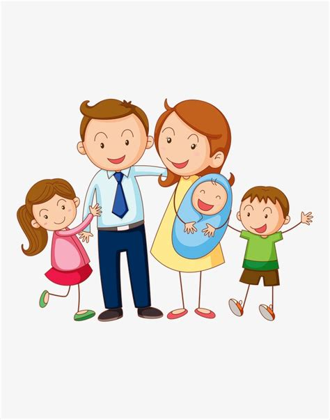 imagenes de la familia del hijo del ninja retrato de familia de dibujos animados padre madre hijo