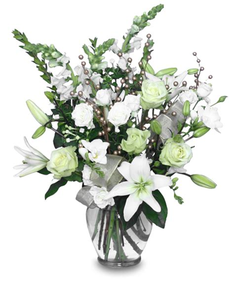 winter magic flower arrangement christmas flower shop