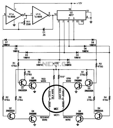 transistor bipolar stepper motor driver stepper motor circuit automation circuits next gr