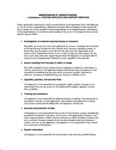 Software Service Agreement Template Service Level Agreement Template Software Sample