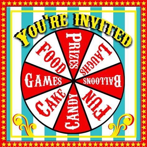Free Printable Carnival Invitations Carnival Free