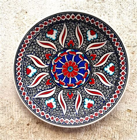 made turkish ceramic plate wall decor iznik by